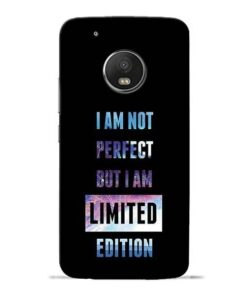 I Am Not Perfect Moto G5 Plus Mobile Cover