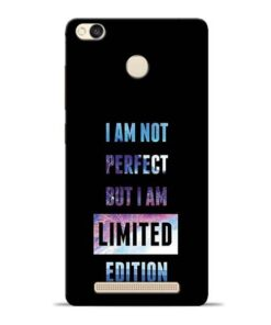 I Am Not Perfect Redmi 3s Prime Mobile Cover