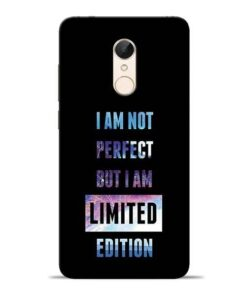 I Am Not Perfect Redmi 5 Mobile Cover