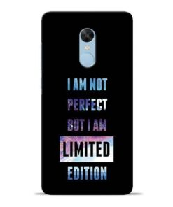 I Am Not Perfect Redmi Note 4 Mobile Cover