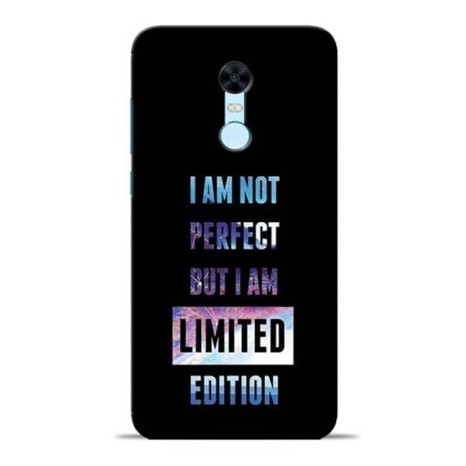 I Am Not Perfect Redmi Note 5 Mobile Cover
