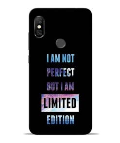 I Am Not Perfect Redmi Note 6 Pro Mobile Cover