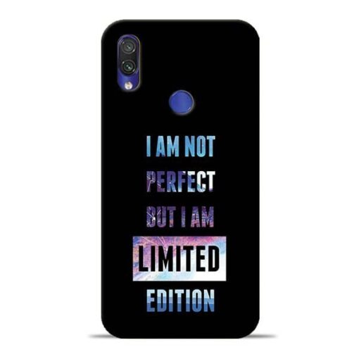 I Am Not Perfect Redmi Note 7 Mobile Cover