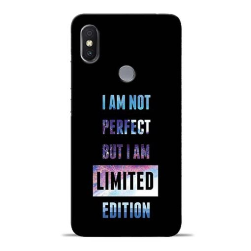I Am Not Perfect Redmi S2 Mobile Cover