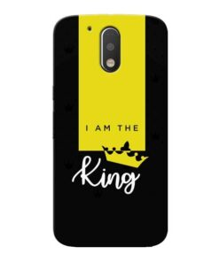 I am King Moto G4 Plus Mobile Cover