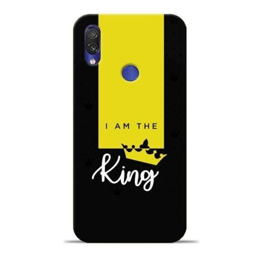 I am King Xiaomi Redmi Note 7 Pro Mobile Cover