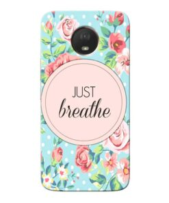 Just Breathe Moto E4 Plus Mobile Cover