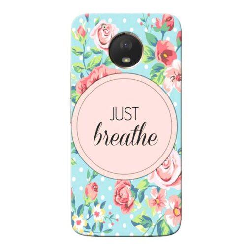 Just Breathe Moto E4 Plus Mobile Cover