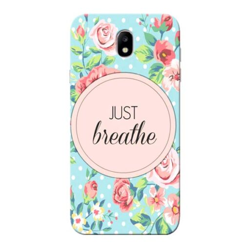Just Breathe Samsung Galaxy J7 Pro Mobile Cover