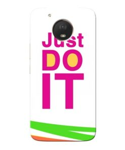 Just Do It Moto E4 Plus Mobile Cover