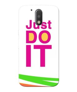 Just Do It Moto G4 Plus Mobile Cover