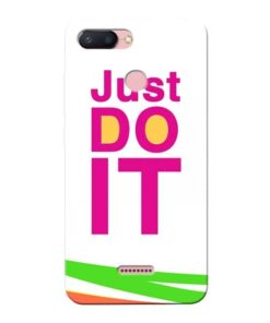 Just Do It Xiaomi Redmi 6 Mobile Cover