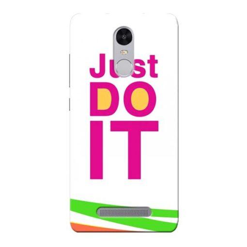 Just Do It Xiaomi Redmi Note 3 Mobile Cover