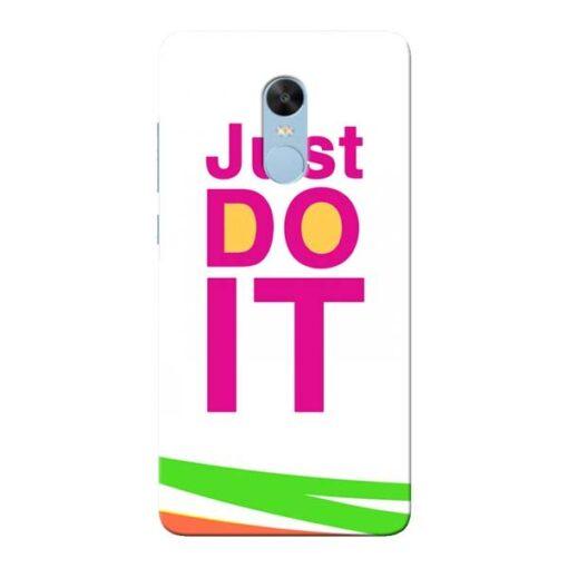 Just Do It Xiaomi Redmi Note 4 Mobile Cover