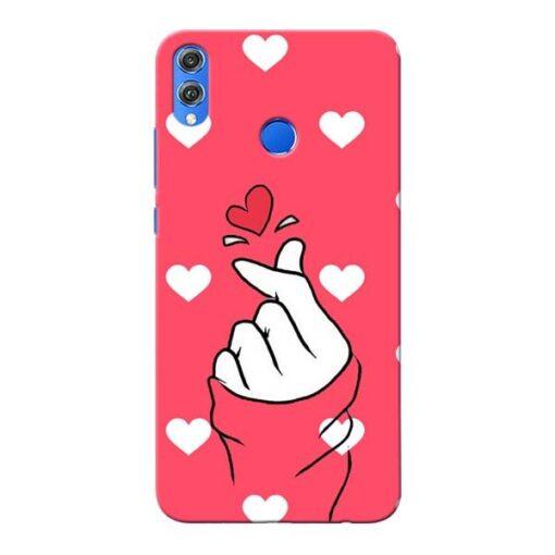 Little Heart Honor 8X Mobile Cover