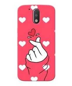 Little Heart Moto G4 Plus Mobile Cover