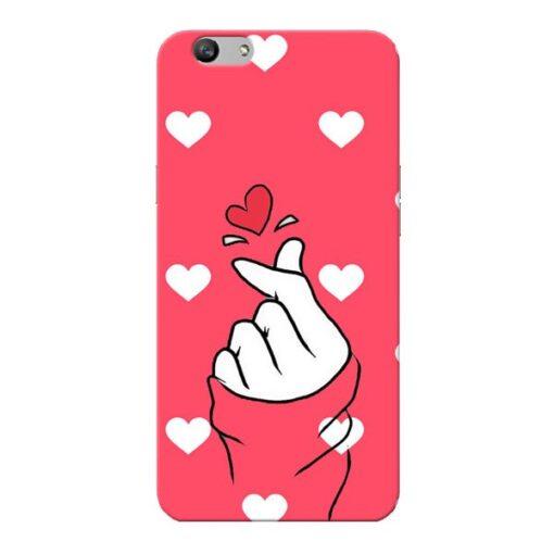 Little Heart Oppo F1s Mobile Cover