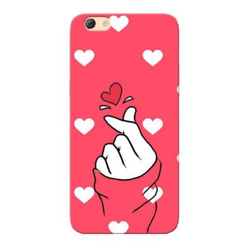 Little Heart Oppo F3 Mobile Cover