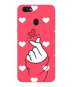 Little Heart Oppo F5 Mobile Cover