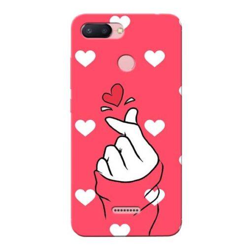 Little Heart Xiaomi Redmi 6 Mobile Cover