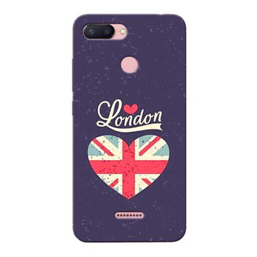London Xiaomi Redmi 6 Mobile Cover