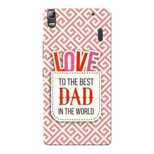 Love Dad Lenovo K3 Note Mobile Cover