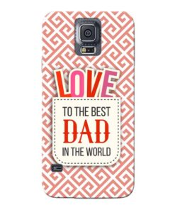 Love Dad Samsung Galaxy S5 Mobile Cover
