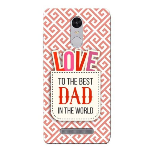 Love Dad Xiaomi Redmi Note 3 Mobile Cover