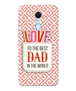 Love Dad Xiaomi Redmi Note 5 Mobile Cover