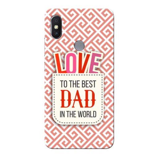 Love Dad Xiaomi Redmi Y2 Mobile Cover