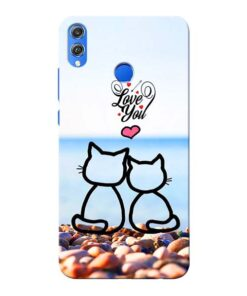 Love You Honor 8X Mobile Cover