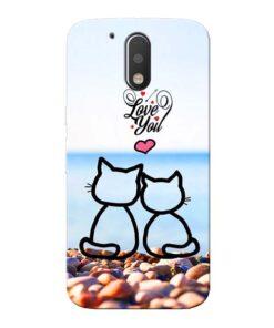 Love You Moto G4 Mobile Cover