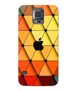 Neon Apple Samsung Galaxy S5 Mobile Cover