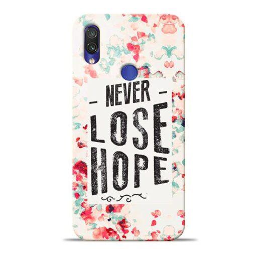 Never Lose Xiaomi Redmi Note 7 Mobile Cover