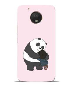 Panda Close Hug Moto E4 Plus Mobile Cover