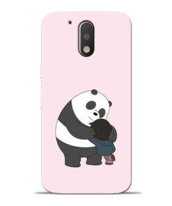 Panda Close Hug Moto G4 Plus Mobile Cover