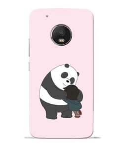 Panda Close Hug Moto G5 Plus Mobile Cover