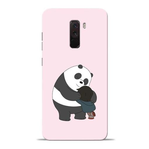 Panda Close Hug Poco F1 Mobile Cover