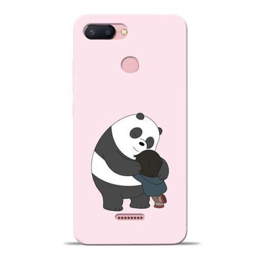Panda Close Hug Redmi 6 Mobile Cover