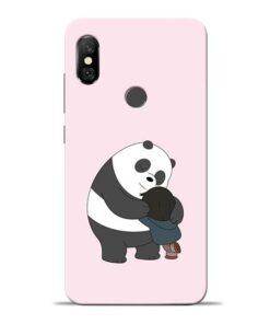 Panda Close Hug Redmi Note 6 Pro Mobile Cover