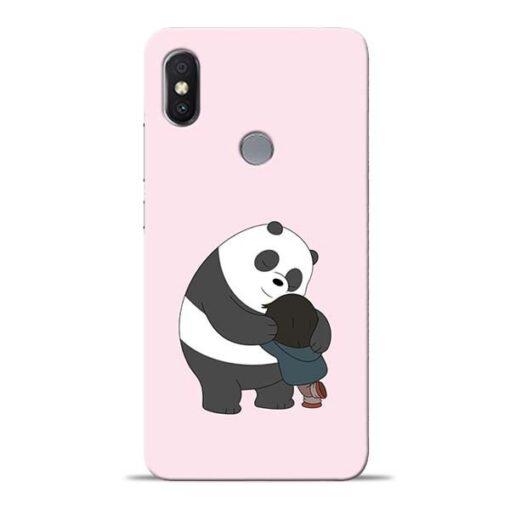 Panda Close Hug Redmi Y2 Mobile Cover