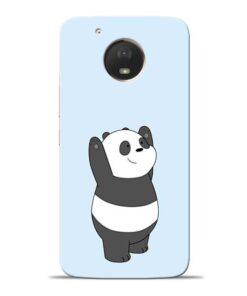 Panda Hands Up Moto E4 Plus Mobile Cover