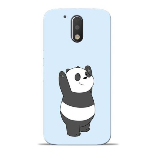 Panda Hands Up Moto G4 Mobile Cover