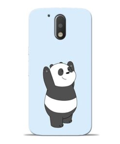 Panda Hands Up Moto G4 Plus Mobile Cover