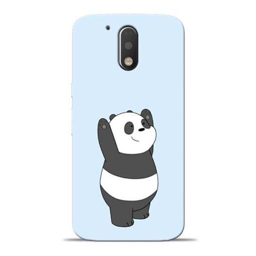 Panda Hands Up Moto G4 Plus Mobile Cover
