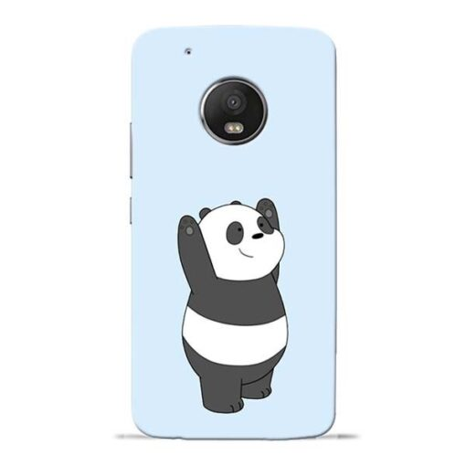 Panda Hands Up Moto G5 Plus Mobile Cover