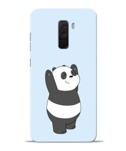 Panda Hands Up Poco F1 Mobile Cover