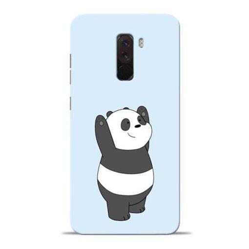 Panda Hands Up Poco F1 Mobile Cover
