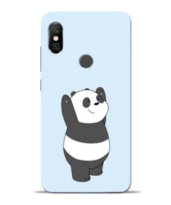 Panda Hands Up Redmi Note 6 Pro Mobile Cover