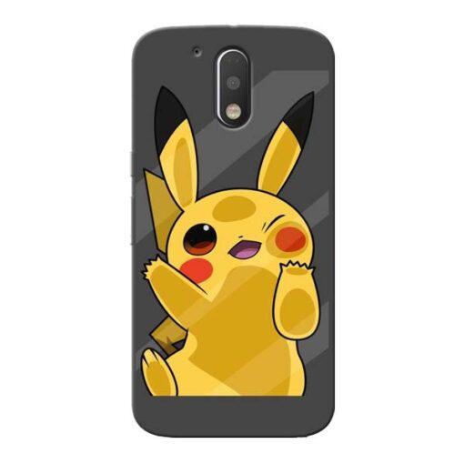 Pikachu Moto G4 Plus Mobile Cover
